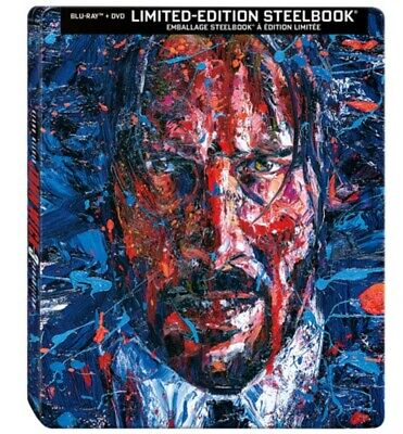 John Wick: Chapter 3 - Parabellum Steelbook Edition - Blu-ray + DVD Combo - NEW!