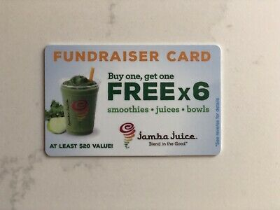 1 Jamba Juice BOGO Card - LOWEST PRICE