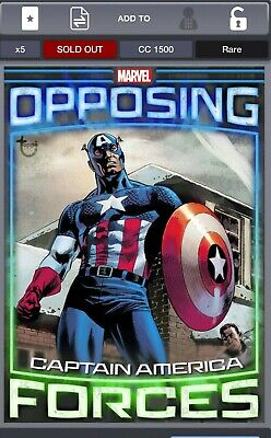 Topps Marvel Collect! Opposing Forces tilt card Captain America and Red Skull