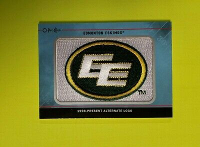 2015 Upper Deck Cfl O-Pee-Chee Logo Equipo Parches #TL34 Edmonton Esquimales