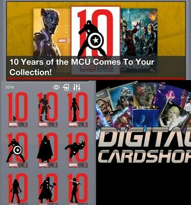 Topps Marvel Collect Trader Studios First Ten Years Silhouettes Die Cuts Set