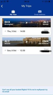 2x Flights to Alicante, Spain  - Thurs 3rd Oct To Sun 6th Oct 2019