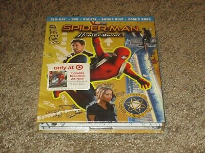 Spider-Man Homecoming Target Exclusive Bluray + DVD+ Digital Comic Book OOP RARE
