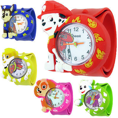Kids Boys Girls Childrens PAW PATROL Snap On Slap Watch Watches Christmas Gift