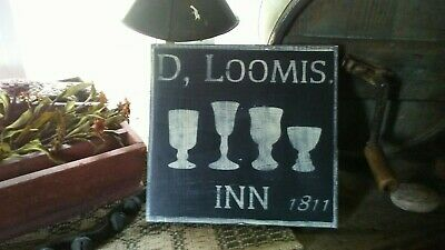 Primitive Sign ~ D , Loomis Inn ~ Seasonal Wooden Sign ~ Awesome ~