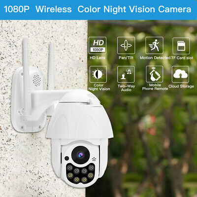 2MP Wireless Wifi IP Camera Speed Dome Outdoor Infrared Motion Detection Safety