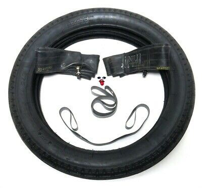 Honda Express 14 inch tire pack - tires tubes & rim strips