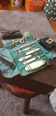 Vintage Manicure Set - Chester Co. Fabrikoid, Made In Usa