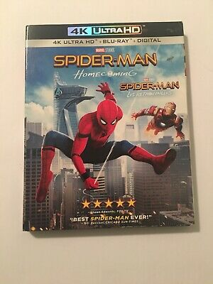 SPIDERMAN HOMECOMING 4K ULTRA HD & BLURAY & DIGITAL SET with Robert Downey Jr.