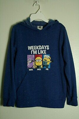 Despicable Me Pullover Hoodie 4-5 6-7 8 XS S M  New Childs Sweatshirt Minion