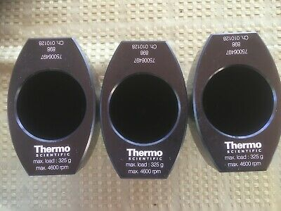 Lot of 3 Thermo SORVALL HERAEUS 250 ML TISSUE CULTURE BUCKETS 75006497 4600rpm