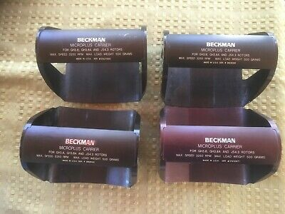 Lot of 4 Beckman Microplus Carrier for GH3.8 GH3.8A JS4.3 Rotor 3250rpm 500g