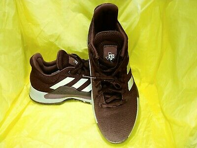 NEW MEN'S ADIDAS SM PB Madness Low Texas A&M Basketball SHOES Maroon SIZE 8.5