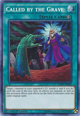 Yugioh | Called by the Grave - MP19-EN043 - Prismatic Secret Rare 1st Edition NM