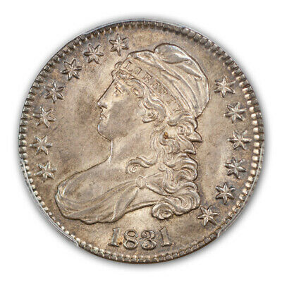 1831 50C Capped Bust Half Dollar PCGS MS65