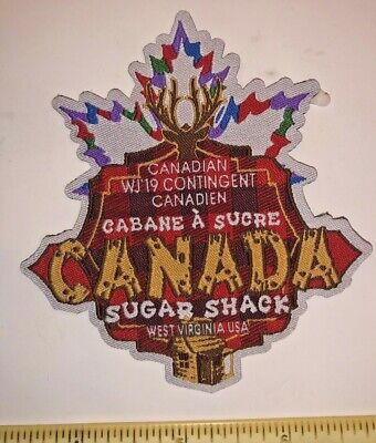 Canada Sugar Shack Food Contingent Patch Badge 2019 24th World Scout Jamboree