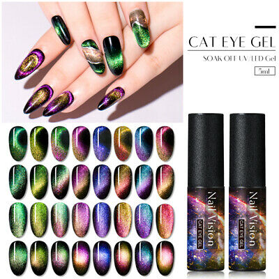 5D/9D Cat Eye UV Magnetic Gel Polish Chameleon Manicure Nail Art Varnish Tips