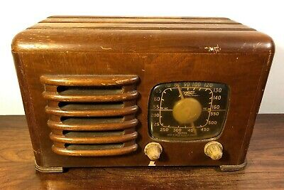 Vintage Zenith 6D525 Tube Radio Wood Cabinet The Toaster