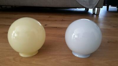 Antique blown glass globe light fittings