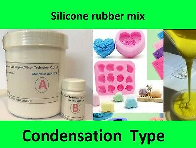 SH30 Silicone Rubber Mould making Mix, White, Candles, Fishing lures, Resin 1KG