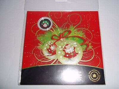 2009 CANADA RCM COMMEMORATIVE COIN SET COLOURED 25 CENT COIN SANTA CLAUS package