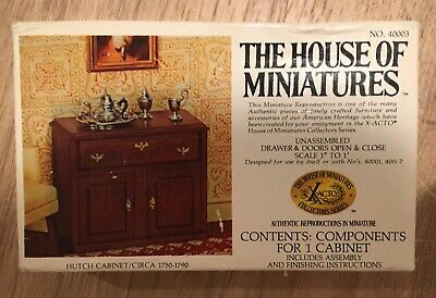 The House Of Miniatures Hutch Cabinet Circa 1750-1790 No.40003 - New!