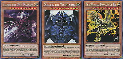 Yugioh Slifer Obelisk Winged Dragon of Ra Prismatic Secret Rare TN19 Mint 3 God