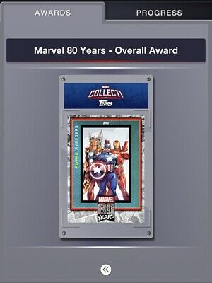 Topps Marvel Collect 80 Years FULL Uncommon Set + AWARD OVERALL