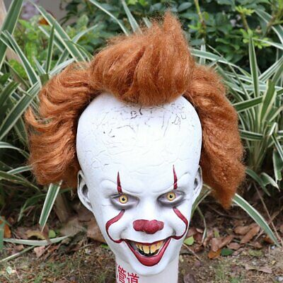 Stephen King's It: Chapter Two 2 Pennywise Clown Cosplay Joker Mask Halloween AU