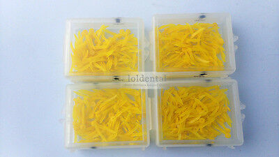 400pcs dental poly wedge disposable middle size plastic round stern with holes