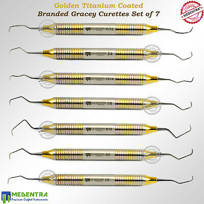 Medentra® Periodontal Curettes Gracey Root Planing Set Colorful Rings Dentist Ce