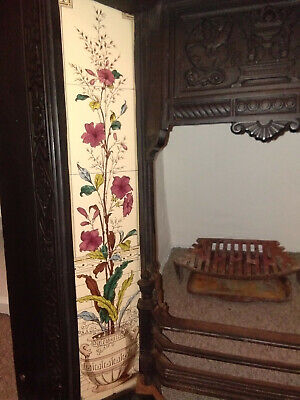 Beautiful Victorian Style Tiled Cast iron Fireplace