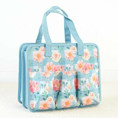 Everything Mary Papercraft Craft Storage Collection - Blue Floral Check Tote Bag