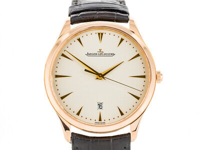 Jaeger Le Coultre Master Ultra Thin Automatic Ref:1232510 Rose Gold Men Watch