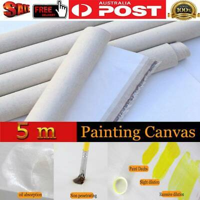 1.7 x 5m Professional Blank Canvas For Acrylic Oil Painting Canvas Waterproof