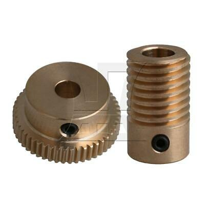 1:50 0.5-mode 50Teeth Industrial Brass Worm Gear & Shaft Reducer 6mm