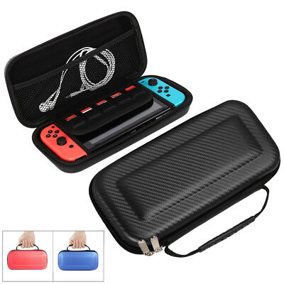 Portable Travel Bag For Nintendo Switch Carrying Case Carbon Fiber Hard Shell AU