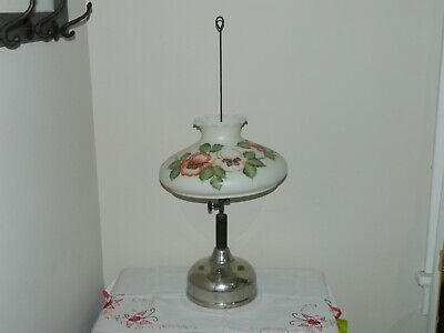 "ANTIQUE Coleman Quick Lite ""C"" Table Lamp circa 1919 - 1923 with Original Shade"