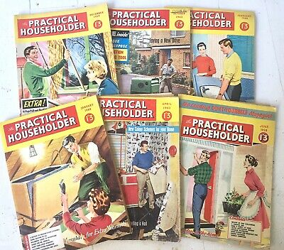 Vintage Practical Householder Magazine Lot of 6 Copies 1959 - 1962