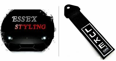 LUKE Tow Strap Rope Towing Eye Pull Hook Track Car - Black New In