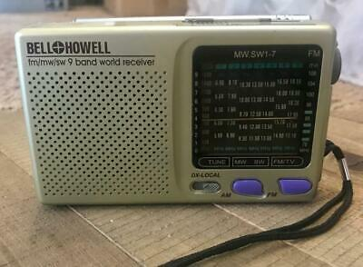 MINT Vintage Bell & Howell MW.SW1-7 9 Band World Receiver AM FM Radio