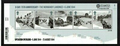 2019 GB 2019 Autumn Stampex D-DAY Mini Sheet OVERPRINT Limited Edition of 7500