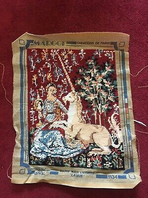 "Margot De Paris Tapestry Completed- Lady And Unicorn  ""La Vue"" 1134"