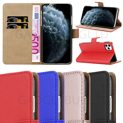 For Apple iPhone 11, Pro & Pro Max Shockproof Leather Case Wallet Flip Luxury