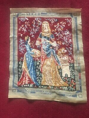 "Margot De Paris Tapestry Completed Dame A La Licorne ""L'Odorat"" 1135"