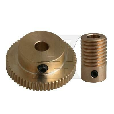 1:60 0.5-mode 60Teeth Brass Worm Gear & Shaft Reducer for Industrial 6mm