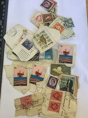 Job Lot Collection of Various Used Franked Vintage Antique Stamps