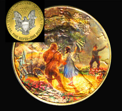 The Wonderful Wizard of Oz!  on a 2019 Liberty 1oz Silver 24kt Gilded Coin
