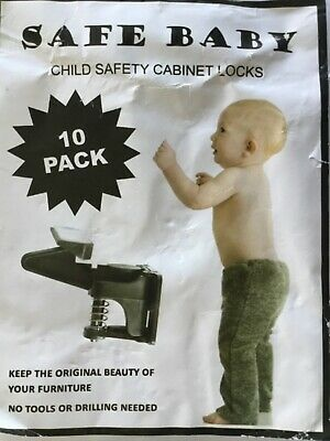 Upgraded Child Safety Cabinet Locks, 10 X Easy to Install Invisible –