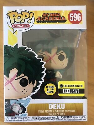 Funko Pop! My Hero Academia Deku Full Cowl GITD #596 Vinyl EE Exclusive In Hand